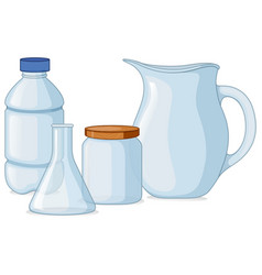 different types of containers vector image vector image