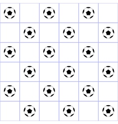 Football ball purple grid white background vector