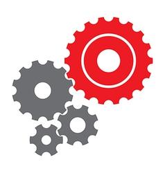 GearsXred vector image vector image