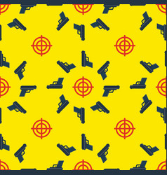 gun targets seamless pattern vector image vector image