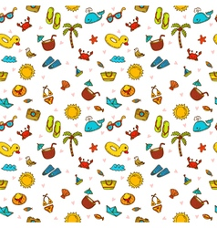 I love summer seamless summer pattern with hand vector
