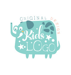 kids logo original design baby shop label vector image