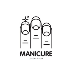 line logo for manicure salon vector image vector image