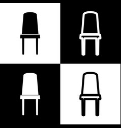 Office chair sign black and white icons vector