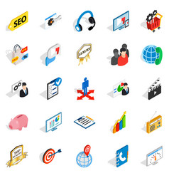 phone call icons set isometric style vector image vector image