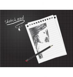 sketch pad vector image