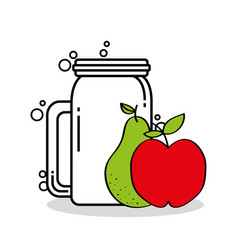smothie fruits delicious icon vector image