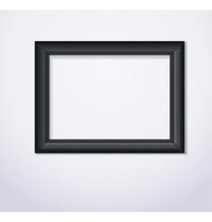 Stylish black photoframe vector image vector image