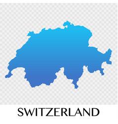 Switzerland map in europe continent design vector