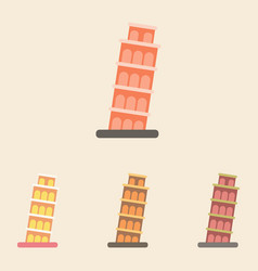 The leaning tower of pisa set vector