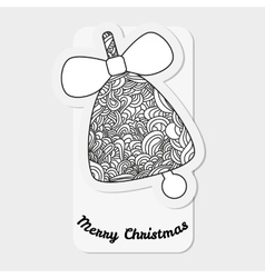 Toys on christmas tree - bell christmas vector
