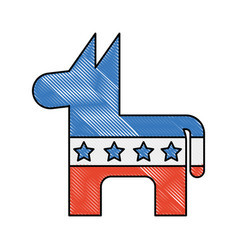 usa donkey symbol icon vector image