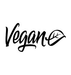 Vegan calligraphy lettering vector