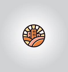 Vintage building logo vector