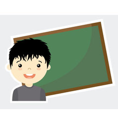 Boy with blackboard vector