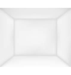 Abstract white room vector