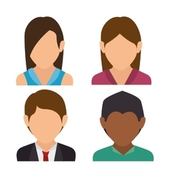 Group person social media isolated icon design vector