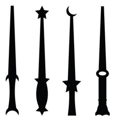 Magic wand icon set vector