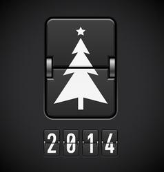 New Year symbols on scoreboard vector image