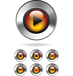 music player buttons vector image