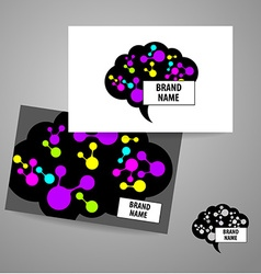 Brain sign logo vector
