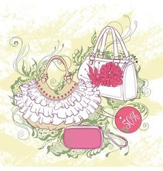Fashion of various handbags vector