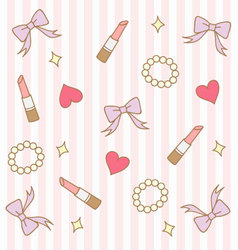 Cute pink pastel girly background 2 vector