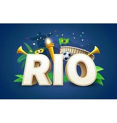 rio 2016 games eps 10 vector image