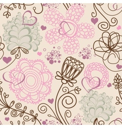 Retro romantic seamless pattern vector