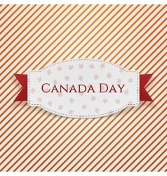 Canada Day paper Emblem with Text and Ribbon vector image