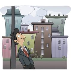 A sad man cartoon vector image