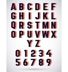 Alphabet triple font vector