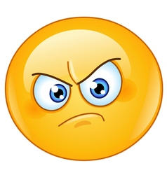 annoyed emoticon vector image