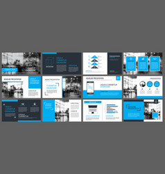 blue presentation templates and infographics vector image