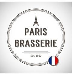 Brasserie paris badge vector
