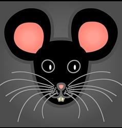 Cartoon black mouse vector