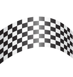 checkered curve white design race sport vector image