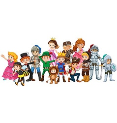 Children in stage costume vector image vector image