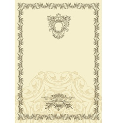 classical vintage old frame design vector image