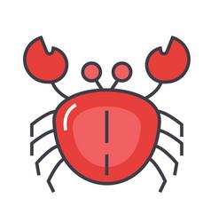 crab concept line icon editable stroke vector image vector image