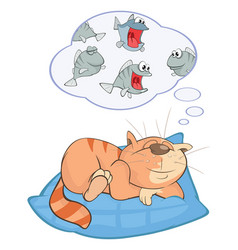 cute cat cartoon character vector image vector image