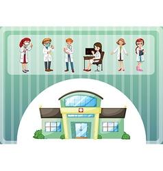 Doctors working in hospital vector
