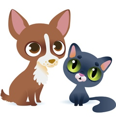Dog and cat vector