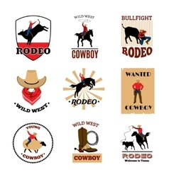 Emblems Set Of Rodeo vector image vector image