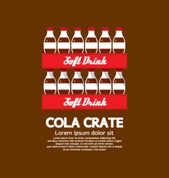 Flat Design Cola Crate Stack vector image vector image