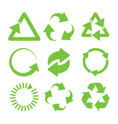 green recycle icons vector image