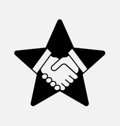 handshake on the star vector image vector image