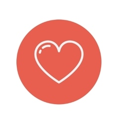 Heart thin line icon vector