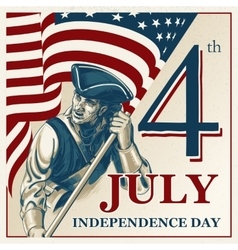 Independence Day - Fourth of July vintage vector image vector image