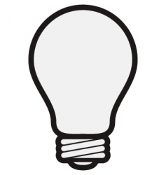 light bulb vector image vector image